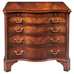 Antique Serpentine Mahogany Chest of Drawers