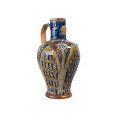 Antique Serving Ewer, English, Ceramic, Decorative, Amphora, Victorian, 1876