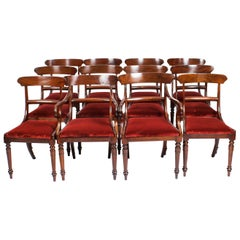Antique Set 12 '10+2' Victorian Mahogany Bar Back Dining Chairs, 19th Century