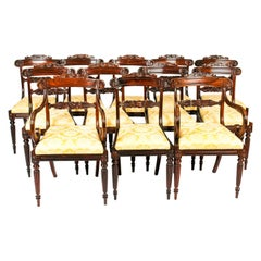 Antique Set 12 William IV Dining Chairs, Attributed to Gillows 19th Century