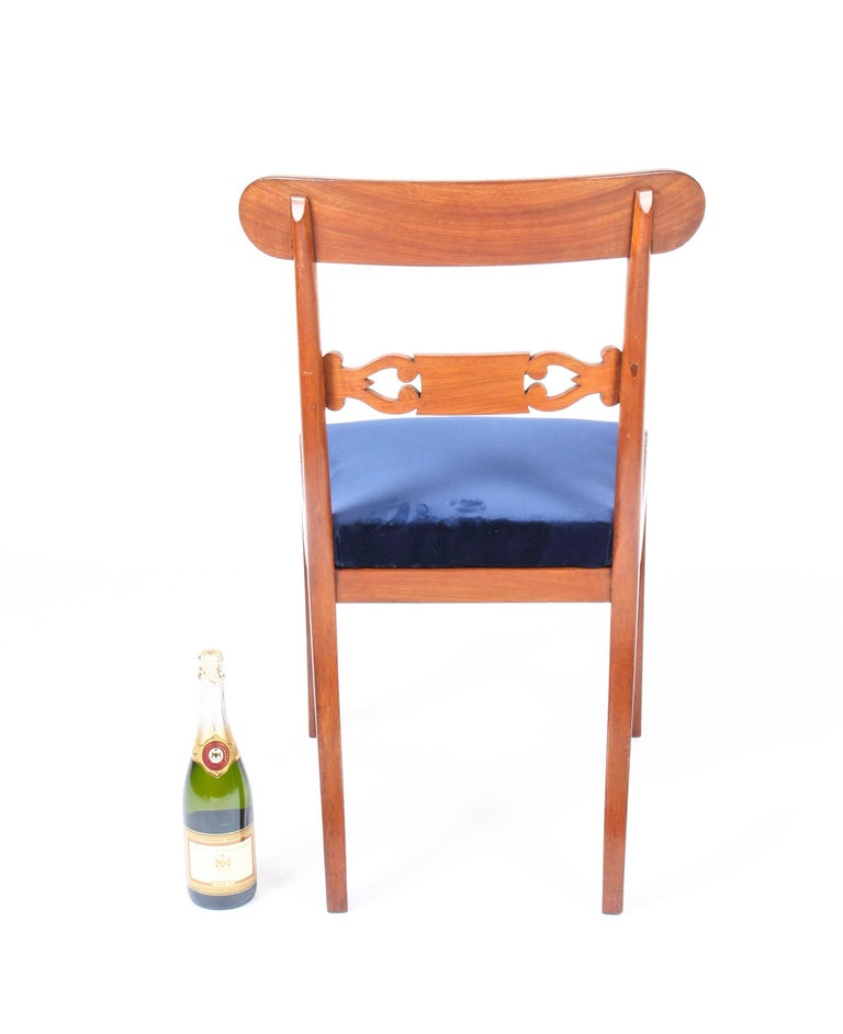 Antique Set of 14 Regency Mahogany Dining Chairs, 19th Century For Sale 8