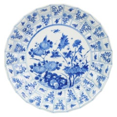 Antique Set Chinese, Kangxi 1700, Plate, Flowers, Porcelain, Qing