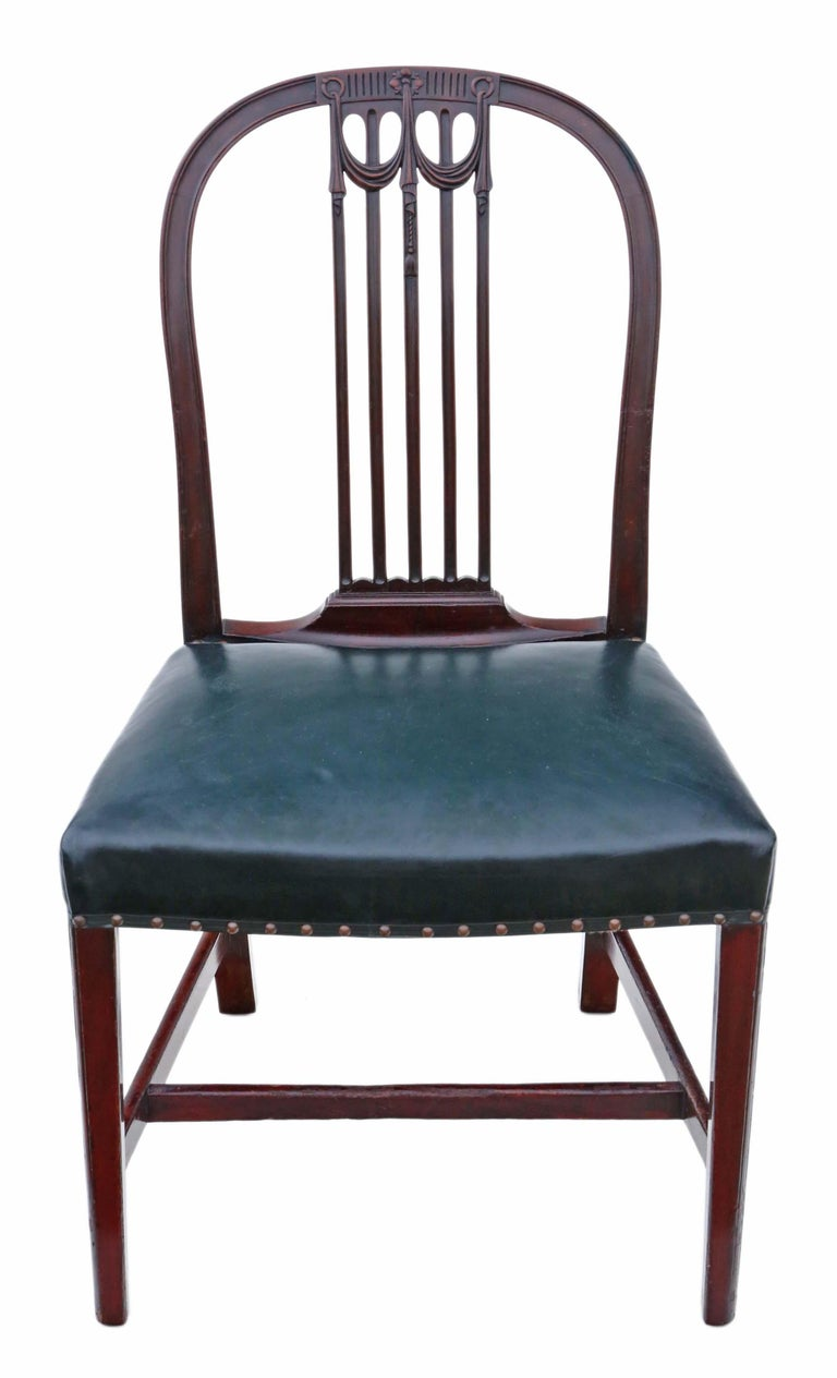 Antique Set of 10 '8+2' Mahogany Dining Chairs, 19th Century For Sale 7