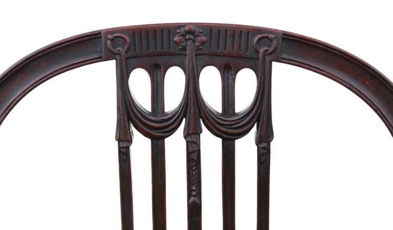 Antique Set of 10 '8+2' Mahogany Dining Chairs, 19th Century For Sale 8