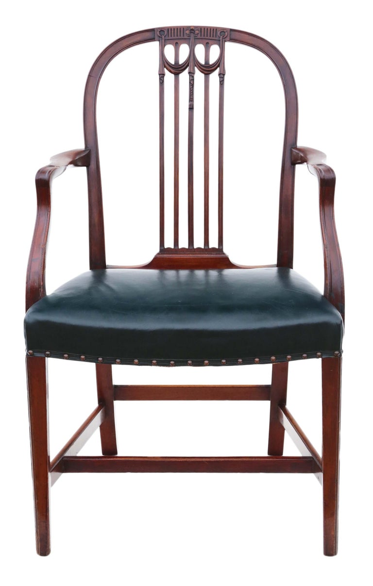 Antique Set of 10 '8+2' Mahogany Dining Chairs, 19th Century In Good Condition For Sale In Wisbech, Cambridgeshire