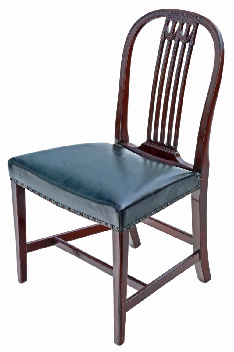 Antique Set of 10 '8+2' Mahogany Dining Chairs, 19th Century For Sale 2