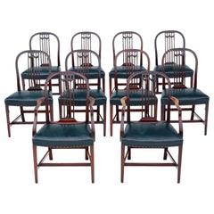Antique Set of 10 '8+2' Mahogany Dining Chairs, 19th Century