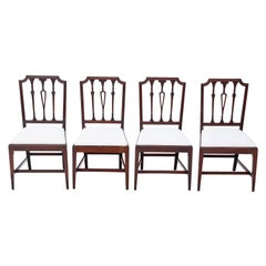 Antique Set of 4 Georgian Mahogany Dining Chairs, circa 1800