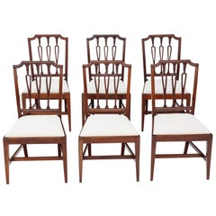 Antique Set of 6 19th Century Mahogany Dining Chairs