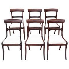 Antique Set of 6 Regency Mahogany Dining Chairs, circa 1825