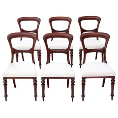 Antique Set of 6 Victorian Mahogany Dining Chairs, circa 1880