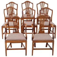 Antique Set of 8 '6+2' Georgian Mahogany Dining Chairs, circa 1800