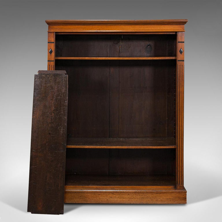 Antique Set of Bookshelves, English, Walnut, Open Bookcase, Victorian, C.1880 For Sale 5
