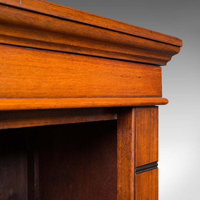 Antique Set of Bookshelves, English, Walnut, Open Bookcase, Victorian, C.1880 For Sale 3