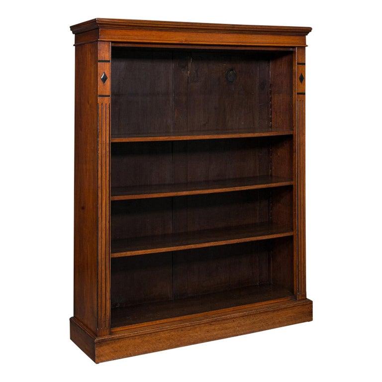Antique Set of Bookshelves, English, Walnut, Open Bookcase, Victorian, C.1880 For Sale