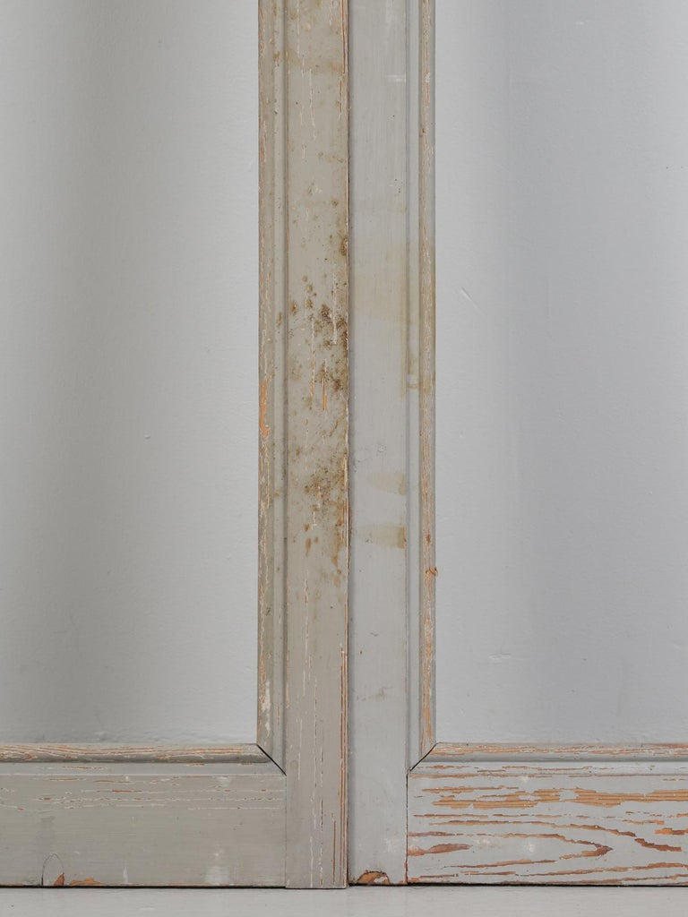 Antique Set of Eight Matching Original Paint French Glazed Doors For Sale 6