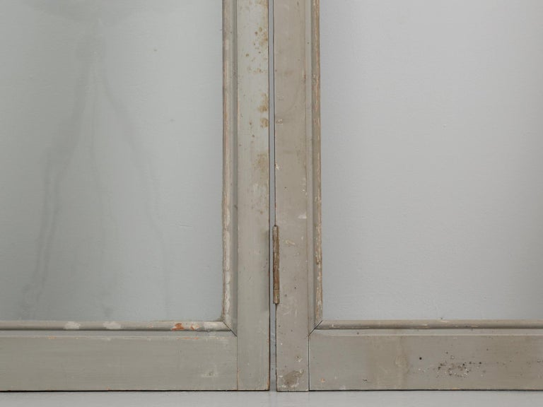 Antique Set of Eight Matching Original Paint French Glazed Doors For Sale 7