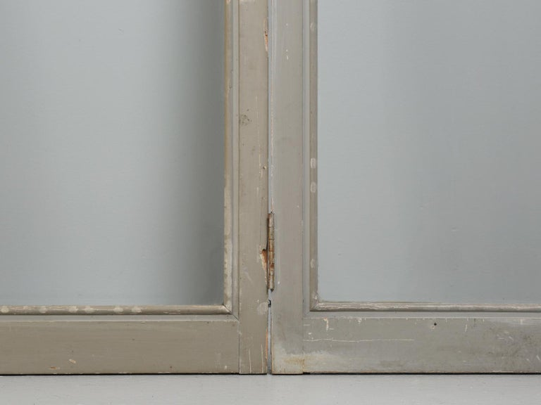 Antique Set of Eight Matching Original Paint French Glazed Doors For Sale 8