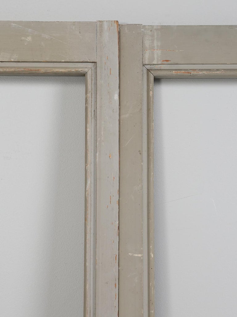 Early 20th Century Antique Set of Eight Matching Original Paint French Glazed Doors For Sale