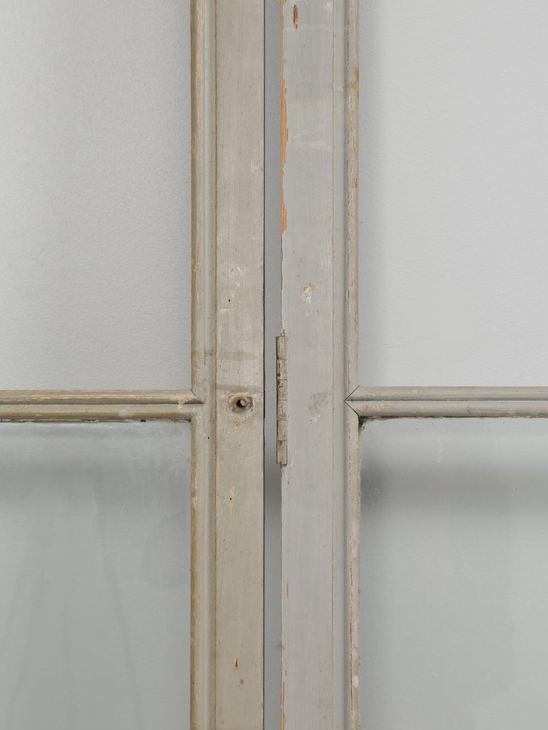 Antique Set of Eight Matching Original Paint French Glazed Doors For Sale 1