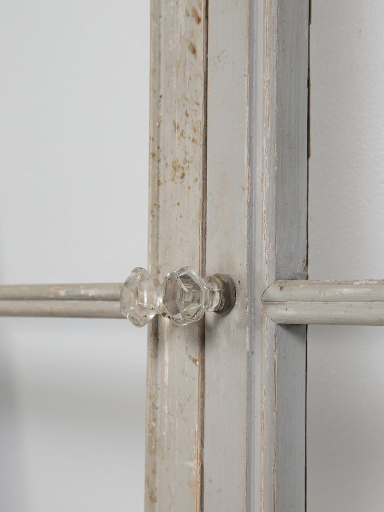 Antique Set of Eight Matching Original Paint French Glazed Doors For Sale 4