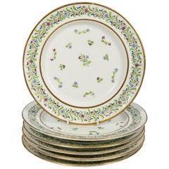 Antique Set of Porcelain Dishes Sprig Decorated