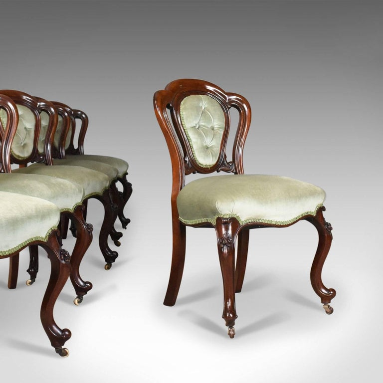 Antique Set of Six Dining Chairs, English, Regency, Mahogany, circa 1830 For Sale 7