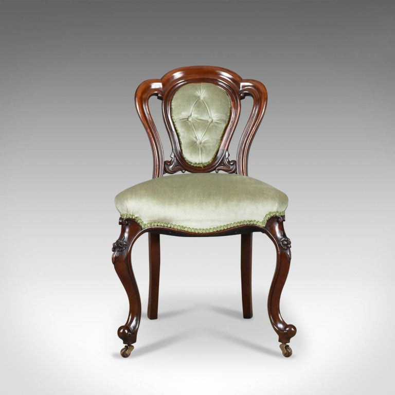 This is an antique set of six dining chairs. English Regency, mahogany framed dating to the early 19th century, circa 1830.  Generous stocks of mahogany displaying deep, rich tones Grain interest and a desirable aged patina in the lustrous wax