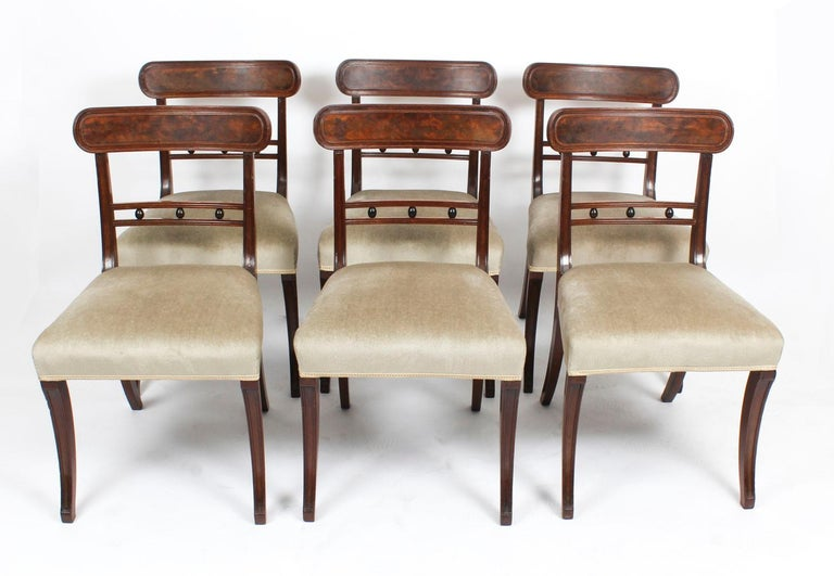 Antique Set of Six Regency Mahogany Dining Chairs, 19th Century For Sale 6