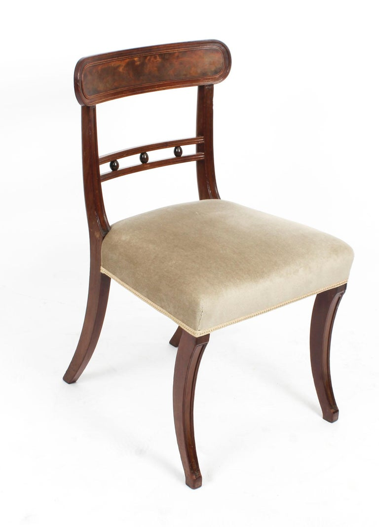 English Antique Set of Six Regency Mahogany Dining Chairs, 19th Century For Sale