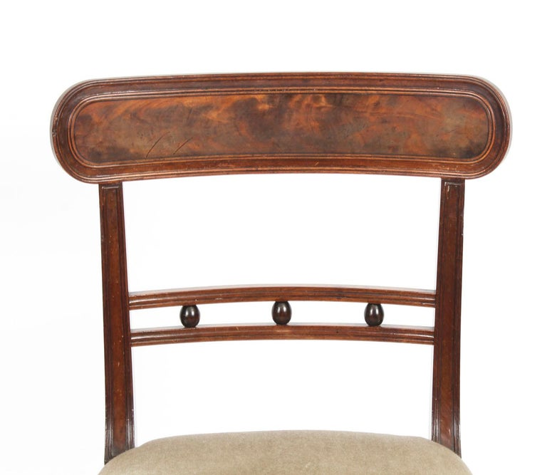 Late 19th Century Antique Set of Six Regency Mahogany Dining Chairs, 19th Century For Sale