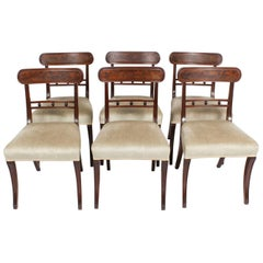 Antique Set of Six Regency Mahogany Dining Chairs, 19th Century