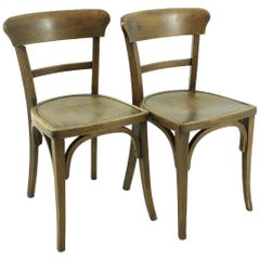 Antique Set of Two Tavern Chairs, circa 1930s
