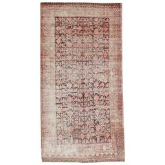 Antique Shabby Chic Khotan Rug. Size: 4 ft 9 in x 9 ft 3 in (1.45 m x 2.82 m)