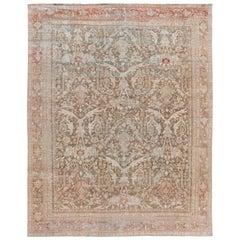 Antique Shabby Chic Mahal Handmade Wool Rug