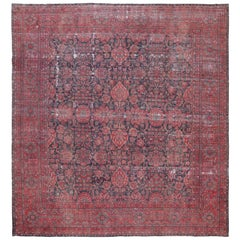 Antique Shabby Chic Persian Kerman Rug. Size: 12 ft x 13 ft 2 in