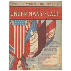 Antique Sheet Music 'Under Many Flags at the New York Hippodrome', 1912