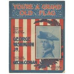 Antique Sheet Music 'You're a Grand Old Flag', Published 1906