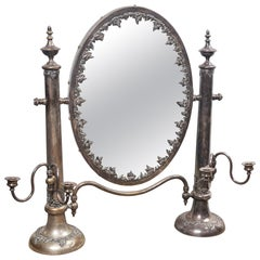 Antique Sheffield Shaving Mirror