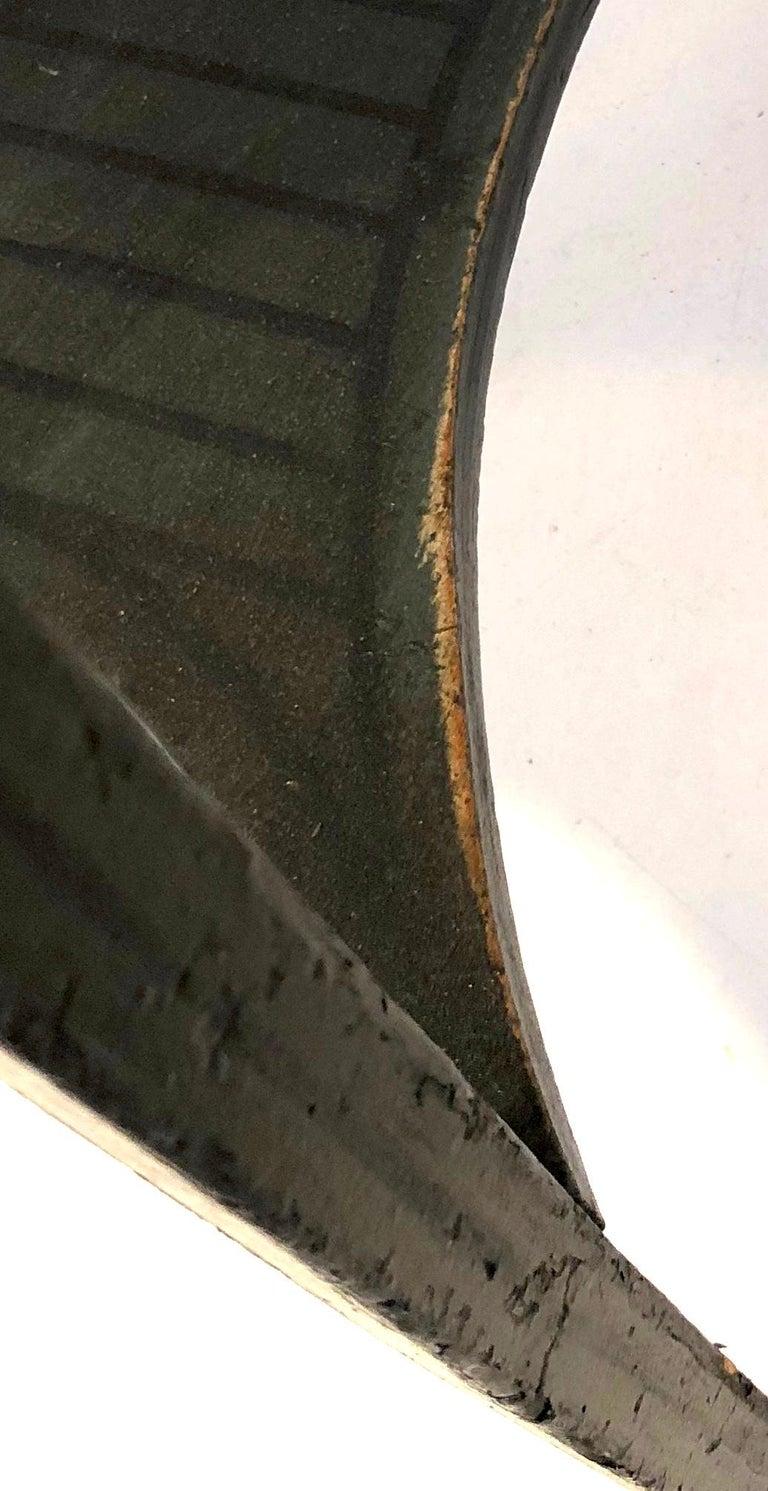 Antique Sheraton Beechwood Paint Brass Cheveret Desk Case England For Sale 5