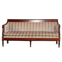 Antique Sheraton Satinwood Inlaid Mahogany Sofa, C1820