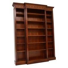 Antique Sheraton Style Inlaid Mahogany Open Bookcase