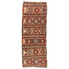 Antique Shirvan Caucasian Kilim Flat Weave Rug, circa 1880s-1900s