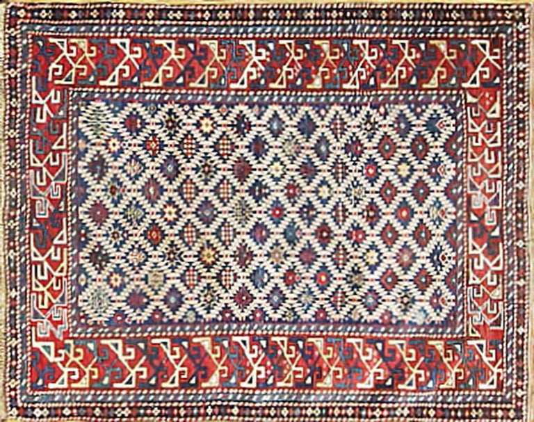 The historic Khanate or administrative district of Shirvan produced many highly decorative antique rugs that have a formality and stylistic complexity that is found in few rugs from the Caucasus. The depth of colors, the complexity of the
