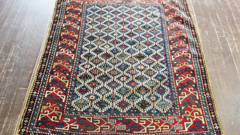 Hand-Woven Antique Shirvan Caucasian Rug For Sale