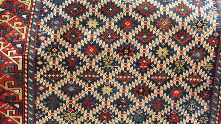 Antique Shirvan Caucasian Rug In Excellent Condition For Sale In Evanston, IL