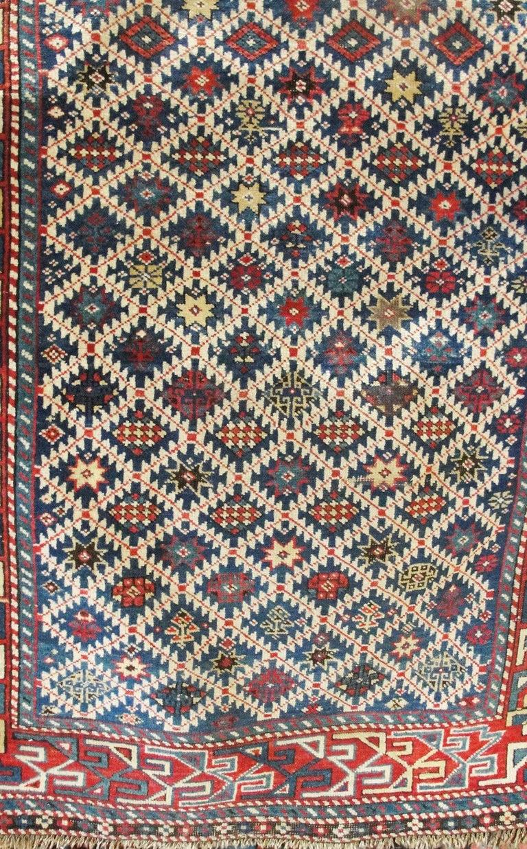 19th Century Antique Shirvan Caucasian Rug For Sale