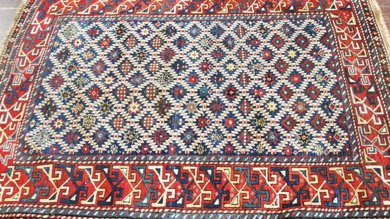 Wool Antique Shirvan Caucasian Rug For Sale