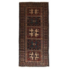 Antique Shirvan/Cuba Caucasian Russian Runner Rug