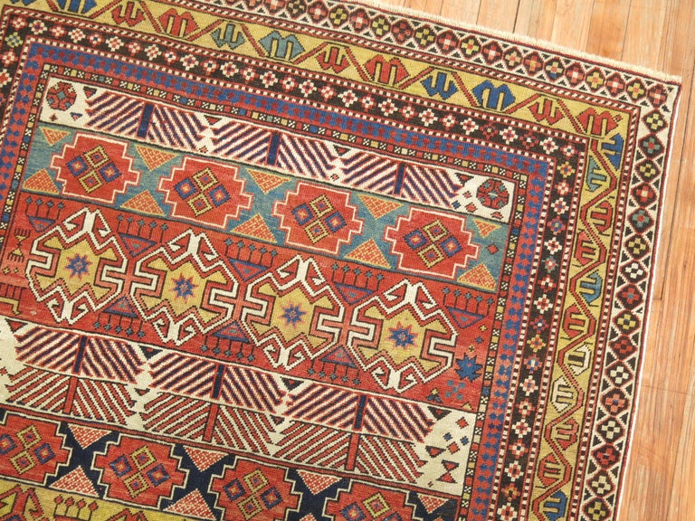 Antique Shirvan Kuba Rug In Good Condition For Sale In New York, NY